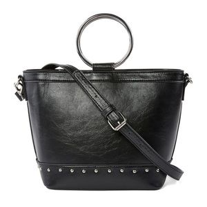 NWT Bold Element Ring Handle Studded Crossbody Bag